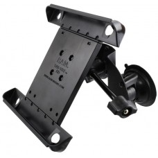 Dual Suction Cup EFB Mount with Short Arm & Retention Knob, and Tab-Tite™  Holder